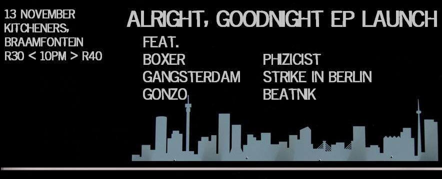 Alright Goodnight EP launch art